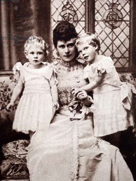 The Duchess of York with her sons Prince Albert and Prince Edward