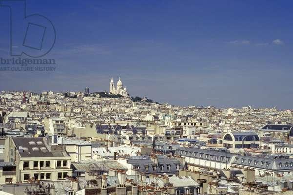 France, Paris, View Of City And Sacre Coeur