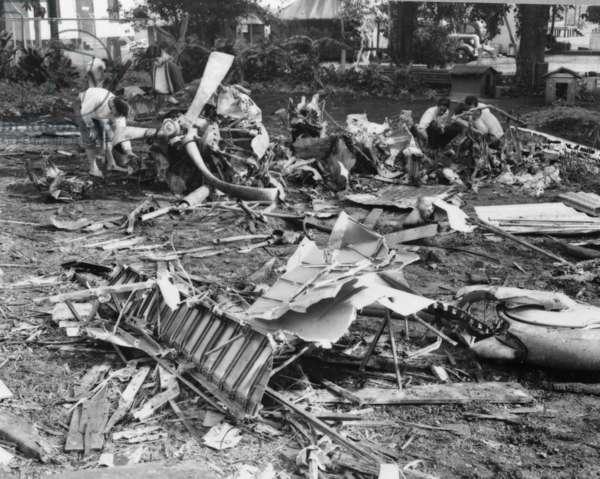 Wreckage of Japanese plane, 1941