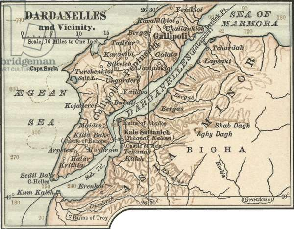 Map of Dardanelles
