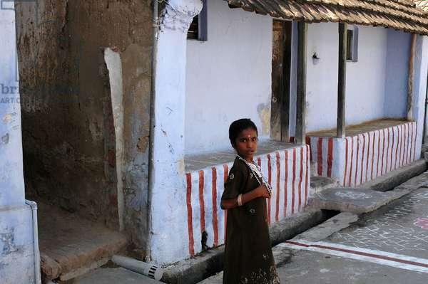 A home in a village near Kanyakumari. Tamil Nadu. India. January 14, 2005.  (photo)