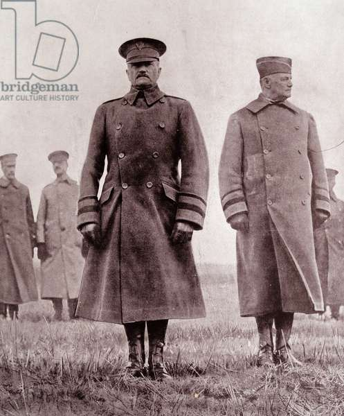 General Pershing and General Hunter Liggett of the United States Army, 1918