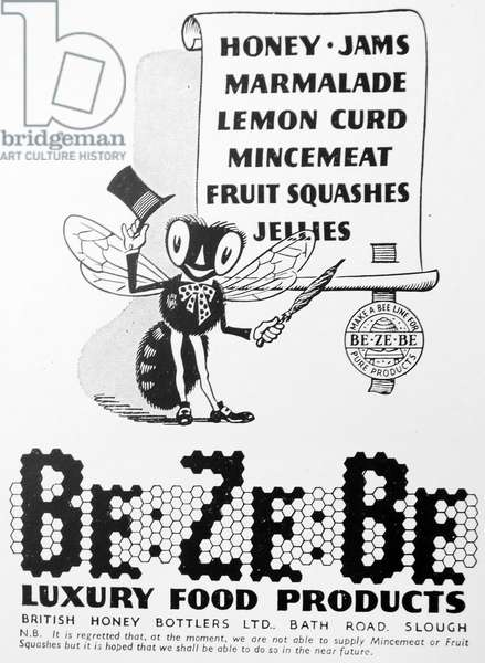 Advert for Be Ze Be luxury food products
