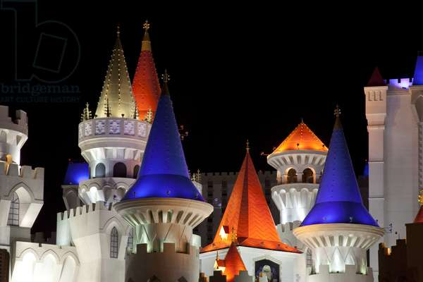 Excalibur Hotel Turrets, Las Vegas, Nevada 2006 (photo)