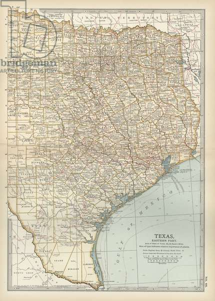 Map of eastern Texas