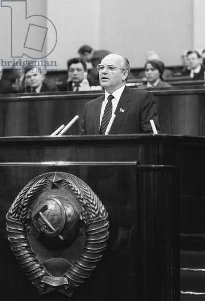 Mikhail Gorbachev Addresses The Fourth Session Of The ussr Supreme Soviet In Moscow