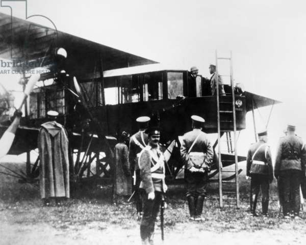 Nicholas Ll and Igor Sikorsky, Aircraft Designer, are Seen in Cabin of Igor Sikorsky'S the Grand, 1913.
