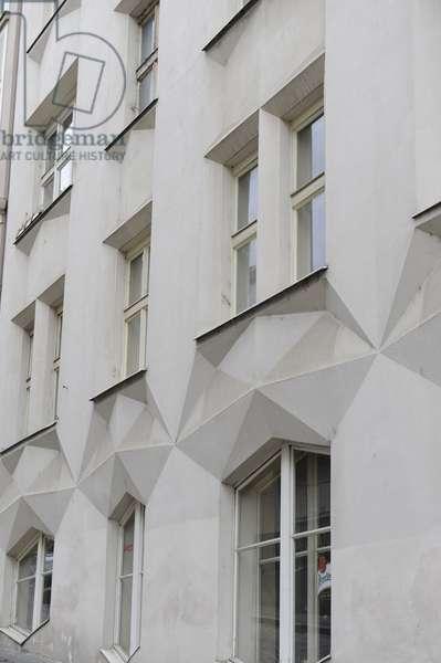 Czech Republic, Prague, Cubist House facade
