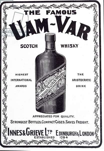 Advertisement for Uam-Var Scotch Whisky