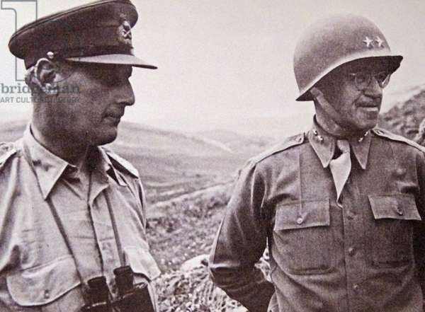 The English General Kenneth Anderson and the American General Omar Bradley during the Tunisian Campaign