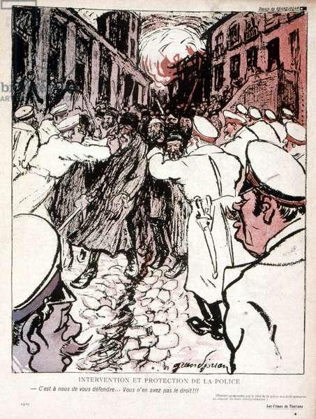 The Kishinev pogrom, an anti-Jewish riot that took place in Kishinev