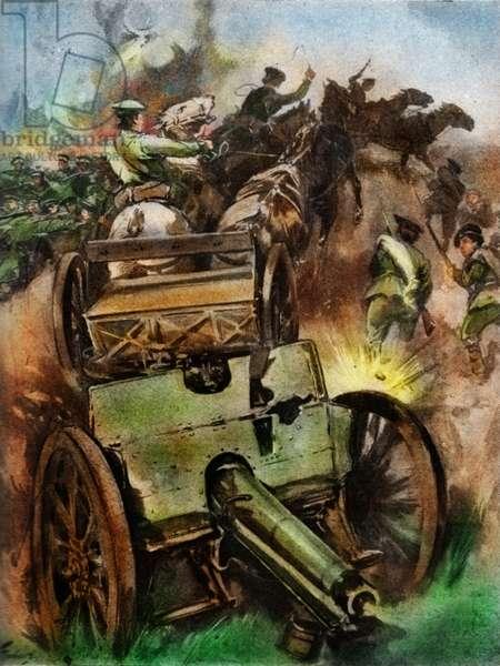 Capturing Austrian guns at Battle of Lemberg