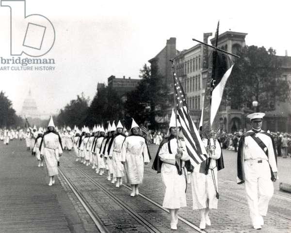 Klu Klux Klan March In Washington, D.C. 1928