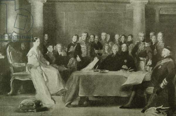 The first council of Queen Victoria at Kensington Palace