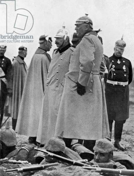 Emperor Wilhelm II and his Chief of Staff Helmuth von Moltke the Elder