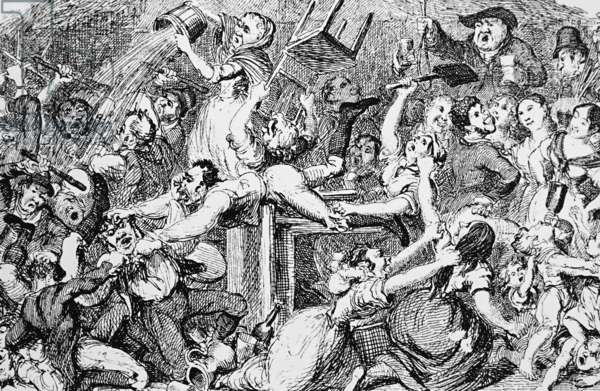A drunken orgy on St Patrick's Day, 1850
