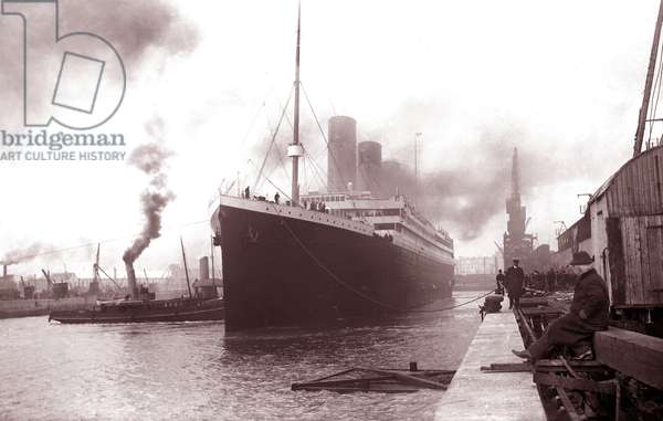 The SS Titanic leaving Southampton