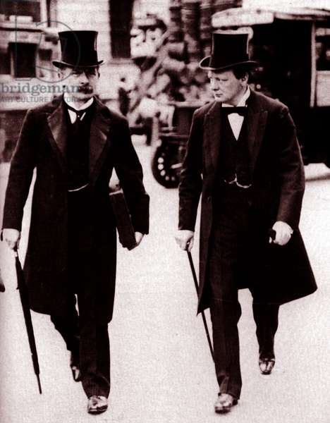 David Lloyd George and Winston Churchill, 1910
