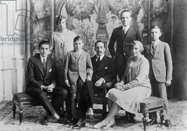 King Alfonso XIII of Spain with the royal family.