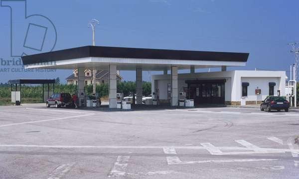 Europe, Spain, petrol station