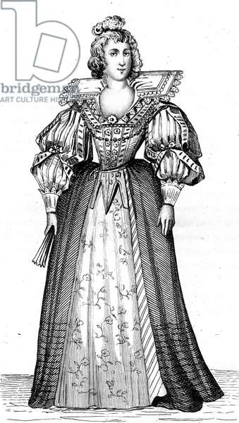 French vintage clothes XVI century Luis kingdom XIII, King of France and Navarre, Louis XIII, v