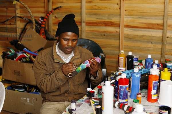 Making a Vuvuzela for 2010 World Cup (photo)