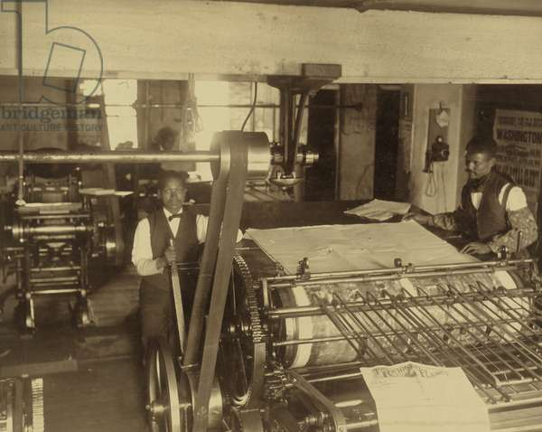 Press Room of the Planet Newspaper 1945 (photo)