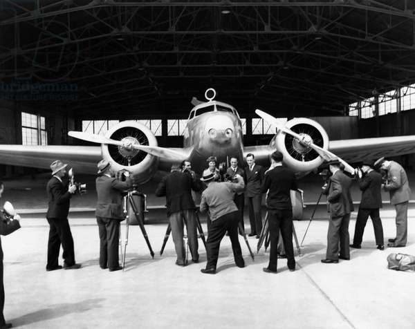 Earhart's Lockheed Electra (b/w photo)