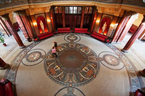 Foyer of the Gellert Baths, Budapest, Hungary (photo)