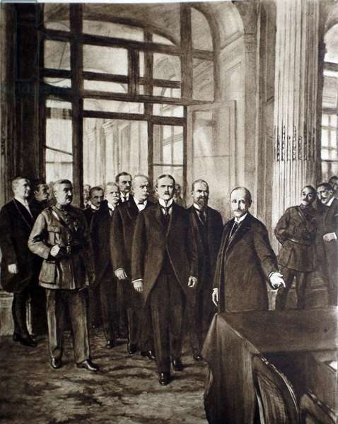 German delegation arrives at the Versailles Peace conference