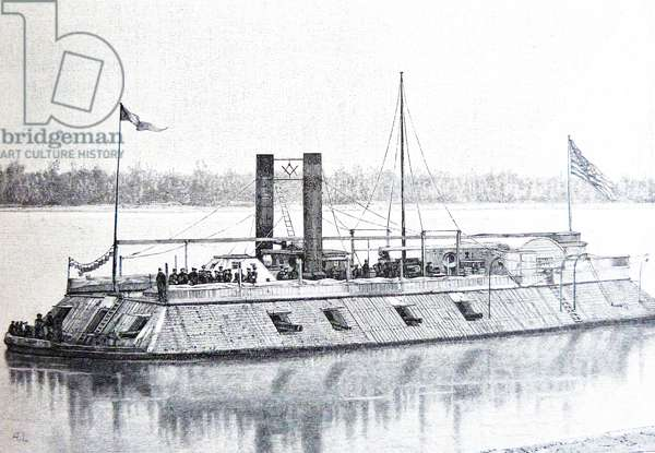 American Civil war-1861 1865 USS Baron DeKalb was a City class ironclad gunboat constructed for the Union Navy by James B