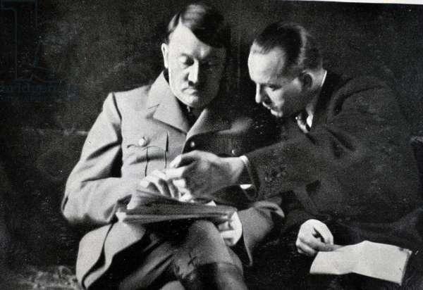 Adolf Hitler with Otto Dietrich, the Third Reich's Press Chief