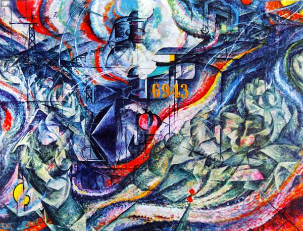 States of Mind I: The Farewells' by Umberto Boccioni. 1911.