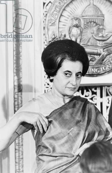 Indira Gandhi (1917-1984)  Prime Minister of India  1966-1977 and 1980-1984.  Indian politician.