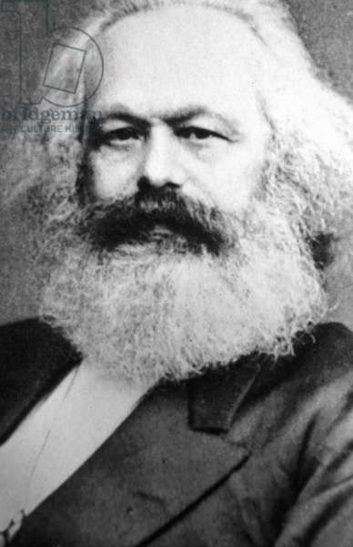 Karl Marx (1818-1883) Father of modern Communism. German political, social and economic theorist. From a photograph .