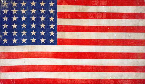 American flag celebrates the spirit of reunification in the heady days after the Civil War