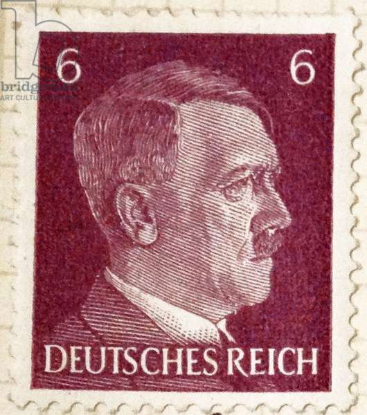 Adolf Hitler Nazi depicted on a postage stamp 1936