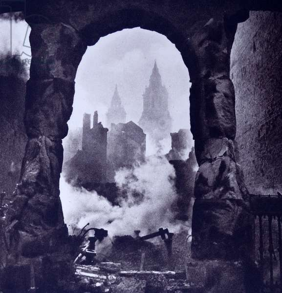 St Paul's District in London during the Blitz in World War Two; 1941. by Cecil Beaton 1904-1980.