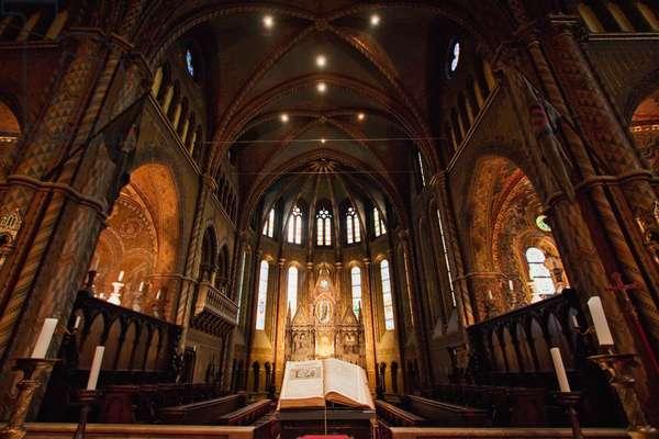 Main Altar of the Matthias Church, Budapest, Hungary (photo)
