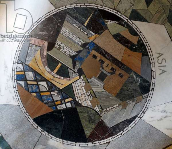 Mosaic Floor at the Chapel of Unity, Coventry Cathedral 1962