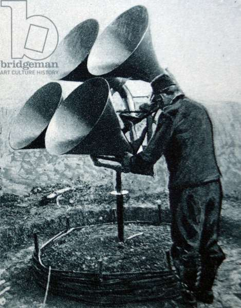 World war one listening device to detect enemy aircraft, 1916