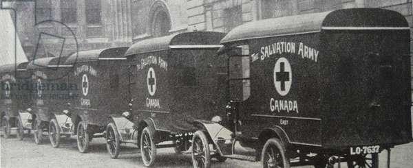 Salvation army ambulances, 1916