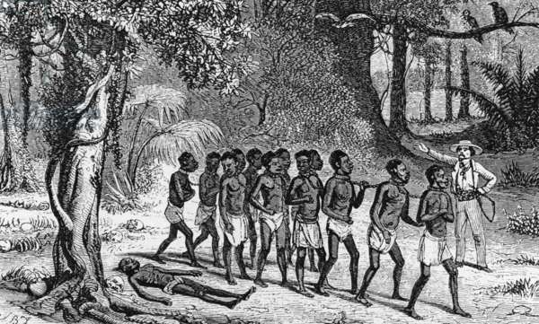 Band of African slaves, 1848