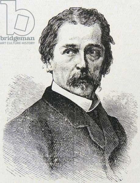 Engraving of Jean Francois Millet, 1875 (engraving)