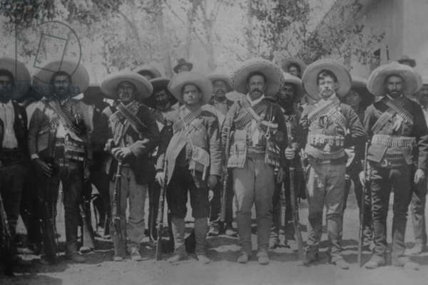 Pancho Villa & staff 1916 (photo)