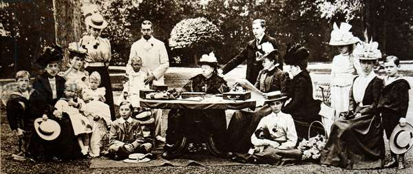Queen Victoria of the United Kingdom with her grandchildren, 1897