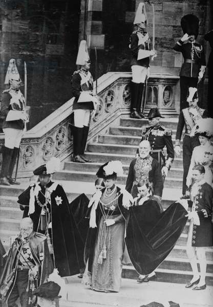 King of England, George V, and his wife Mary of Teck
