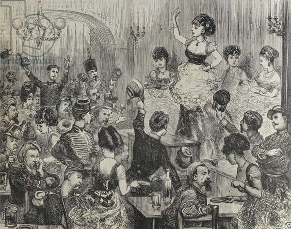 A Café Chantant at Chalons, 1870 (engraving)