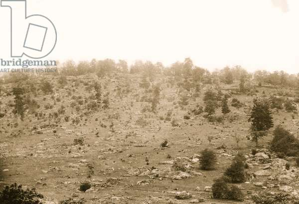 Gettysburg, Pennsylvania. View of Little Round Top 1863 (photo)
