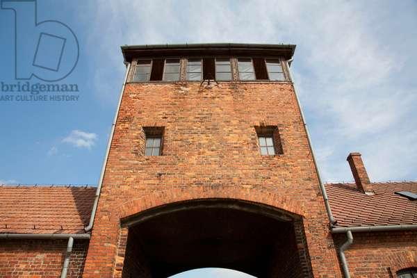 Main Guard House (Gate of Death), Auschwitz-Birkenau Concentration Camp, Oswiecim, Malopolska, Poland (photo)